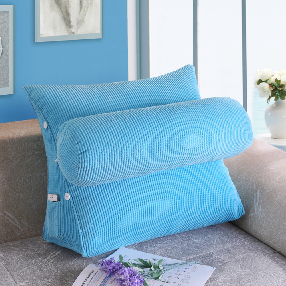 Reading wedge pillow sofa backrest triangular throw pillow for Bed back decoration